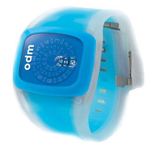 ODM Spin - Reloj digital de mujer de cuarzo con correa de silicona azul - sumergible a 30 metros: Amazon.es: Relojes