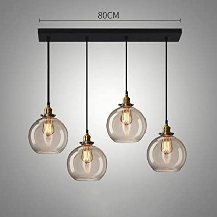 Hines Luces Colgantes industriales del Hierro de 4 Luces ...