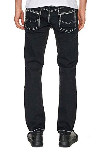 Rusty Neal Jeans Herren Hose Japan Style Clubwear Vintage Verwaschen Fit Used, Modell:8323-37;Hosengröße:W34/L34