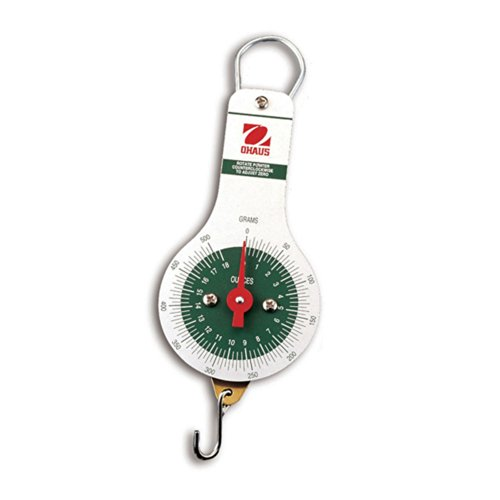 Ohaus 8012-MA Dial-Type Hanging Spring Scale, 500g x 5G, 18