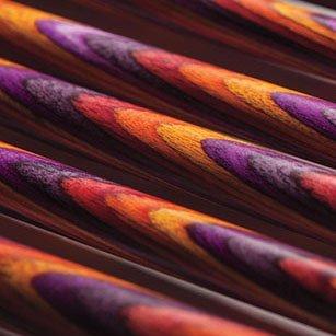 Knit Picks Wood Straight Single Point Knitting Needle Set US 4-11 (10'' - Radiant)