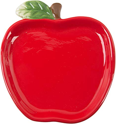 Ceramic Red Apple - Ceramic Red Apple Shaped Spoon Rest