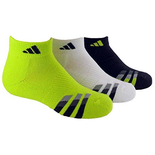 adidas Boys Cushion Low Cut Socks , Semi Solar Yellow/Black