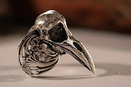bird skull ring - 8