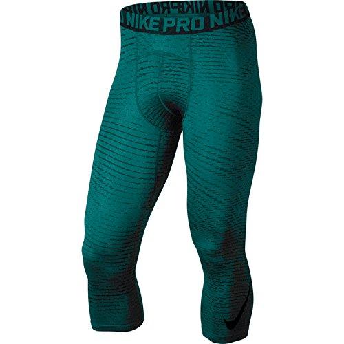 Nike Mens Pro 3/4 Collant Verde Acqua / Nero