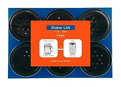 Plastic Lid for Golden Harvest Salt /& Pepper Shaker Jars 2 Diameter Black