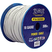 Absolute USA P16-500WH 16 Gauge 500-Feet Spool Primary Power Wire Cable (White)