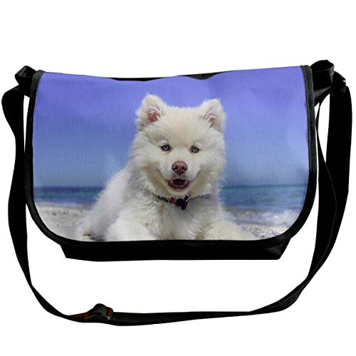 Taslilye Beach Puppy Dog Finnish Animal Summer Customized Wide Crossbody Shoulder Bag For Men And Women For Daily Work Or Travel -