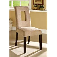 247SHOPATHOME Idf-3625SCX2 Dining-Chairs, Beige