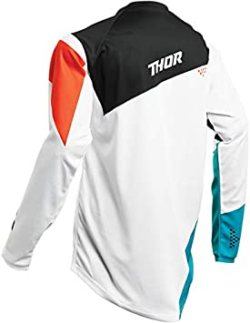 Taille XL Thor Maillot Cross Adulte Sector Blade Gris//Rouge