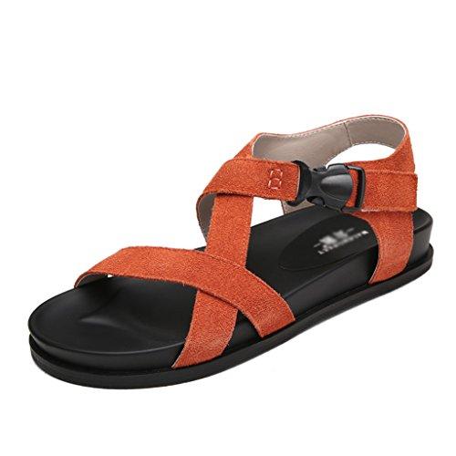ZCJB Sandalias Planas Femeninas Zapatos De Playa De Verano Sandalias  Femeninas Sandalias Y Zapatillas Casuales Zapatos edeaf3d4d7a1