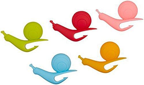 Z-bond 1PC Snail Shape Silicone Tea Bag Holder Cup Mug Candy Colors Gift Set
