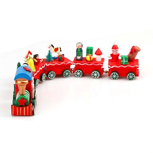 Geology Rocks Play Costumes (HANYI 6 Pieces Wood Christmas Xmas Train Decoration Decor Gift)