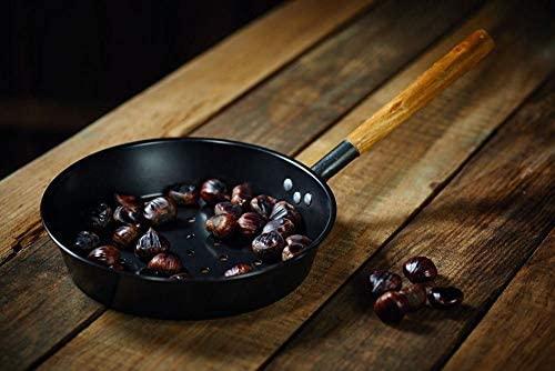 Kitchen Craft Chestnut Sartén de Acero Carbono para Castañas, Negro, 50 x 27 x 15 cm