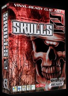 Skulls Volume 2 Vector Clipart Vinyl Cutter Slgn Design Artwork-EPS Vector Art Software plotter Clip Art Images by Cut Ready Clipart
