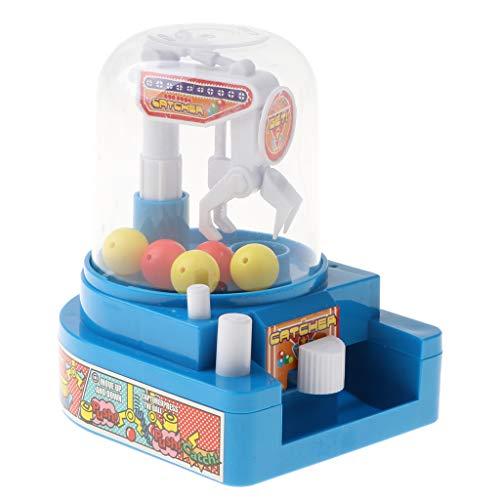 B Baosity ミニ 爪ゲーム おもちゃ キャンディグラバー ボールキャッチマシン 子供 贈り物 3色 - 青