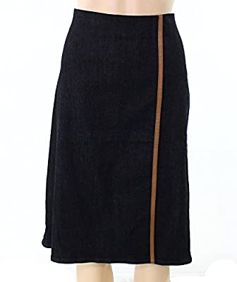 Lauren Ralph Lauren Womens Denim Front Slit Pencil Skirt