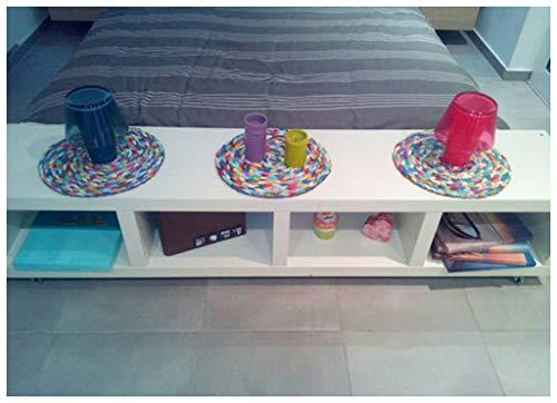 Viet's Hand Rattan Placemats - Multicolour placemats, Home Decor, livingroom Decor, Kitchen Decor, Bedroom Decor, Multicolour Rattan. Wall Art, Decor Art.