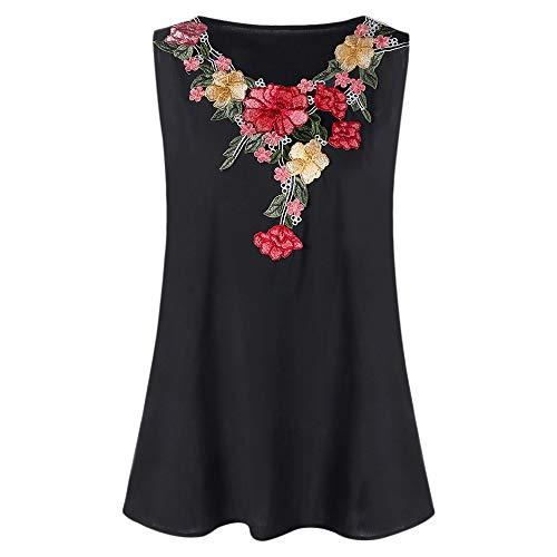 Nextmia Women's Plus Size Embroidery Floral Tank Top Fashion Cute Sexy Summer Tops from Nextmia