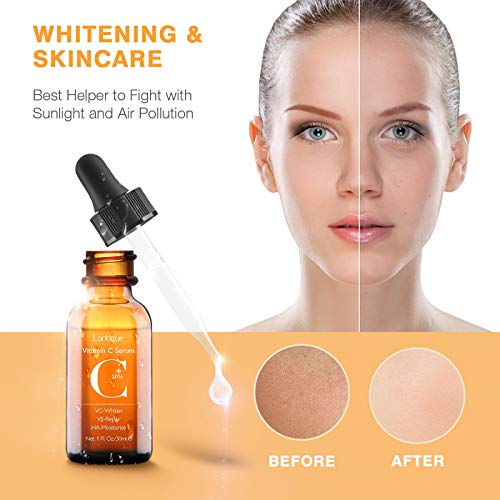 415dh%2BD B2L - Upgraded 30% Vitamin C Serum with Hyaluronic Acid and Vit E,Anti Aging Face Serum for Face Eyes,Anti Wrinkle Vitamin C Facail Serum