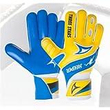 Luva De Goleiro Three Stars Keeper Juvenil - Amarelo/Azul