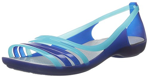 Crocs Mujeres Isabella Huarache Flat Jelly Sandal Cerulean Blue