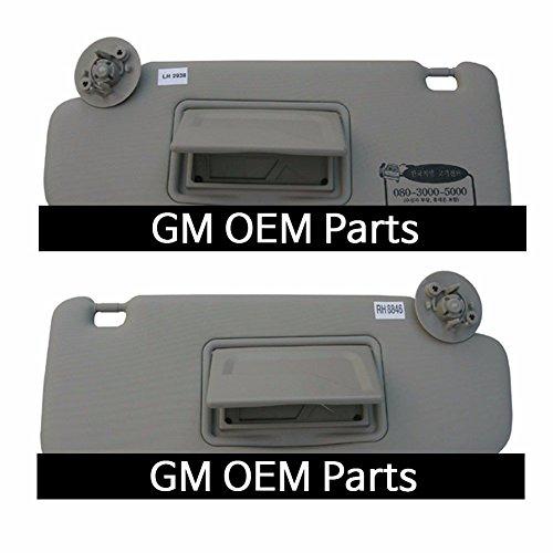 Interior Sun Visor Shade LH+RH 2P Gray For GM Chevrolet Sonic 2012+ OEM (Chevrolet Visor)