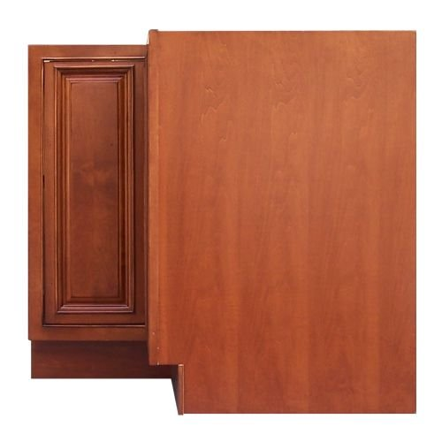 Sagehill Designs AHB36DC Amherst 36″ Diagonal Corner Cabinet with Lazy Susan, Burnt Cinnamon