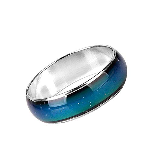 andy cool Premium Quality Emotion Feeling Magic Ring Mood Color Changeable Alloy Ring Color Changing Finger Ring Jewelry for MThermochromic alloy ring 15.7mm