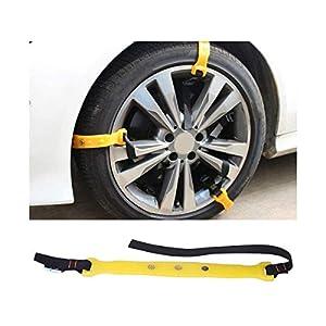 CARALL 6 pièces Bandes de chaînes à Neige antidérapantes antidérapantes réutilisables pour Voiture SUV Neige Pit Stop…