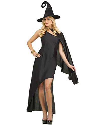 Fun World Women's Enchanting Vintage Witch Costume, Black, (Vintage Wonder Woman Costume)