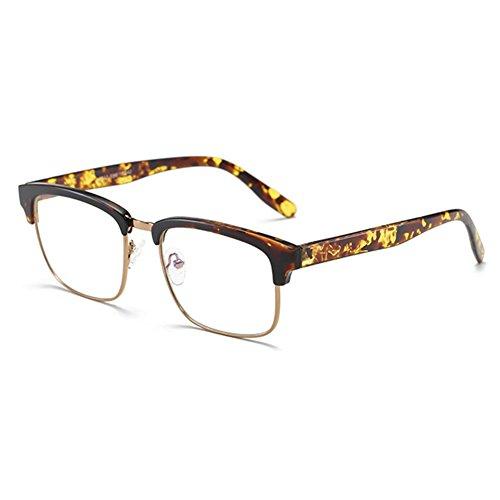 6b910dd368 Hombres Mujeres anteojos de luz azul - TR90 Ultra-light Frame Anteojos  rectangulares Clear Lens
