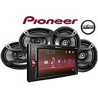 Pioneer MVH-200EX Digital Multimedia Video Receiver with 6.2 WVGA Display, & Pair of Pioneer TS-695P 6x9 & Pair of TS-165P 6.5 Speakers & SOTS Freshener