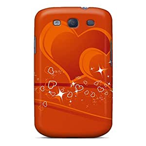 Hot Tpu Cover Case For Galaxy/ S3 Case Cover Skin - Couple Hearts
