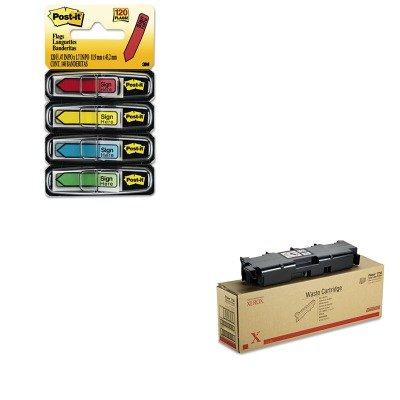 KITMMM684SHXER108R00575 - Value Kit - Xerox Waste Toner Cartridge for Xerox Phaser 7750 (XER108R00575) and Post-it Arrow Message 1/2amp;quot; Flags (MMM684SH)
