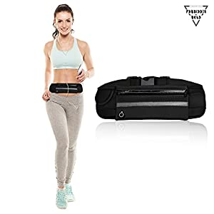 Forbidden Road Sport Running Belt (5 Color, 3 Pockets) Waterproof Fanny Pack Fitness Gear Running Waist Pack / Bag For Iphone 7 / 6s / 6 & Iphone 7 / 6s / 6 Plus and Samsung Phone Smartphone Accessory