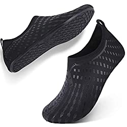 Feetcity Womens Water Shoes Mens Water Footwear Quick Dry Water Sports Beach Swim Shoes Print Black M W 7 5 8 5 M 6 7