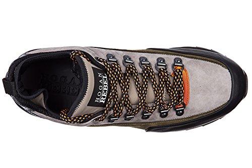 Hogan Rebel Zapatos Zapatillas de Deporte Hombres EN Piel Nuevo r261 Allacciato