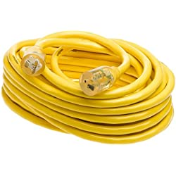Yellow Jacket 2991 SJTW 10/3 Extension Cord w/Lighted T-Blade, 50-Foot