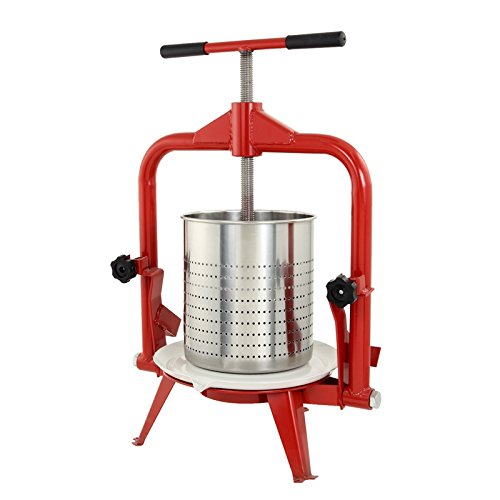 TSM Products Stainless Steel Harvest Fruit and Wine Press, 14-Liter by TSM Products