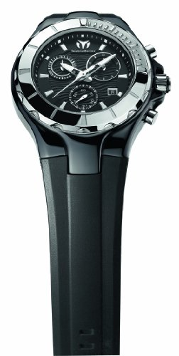TechnoMarine Unisex 110028 Cruise Ceramic Chronograph Black Dial ()