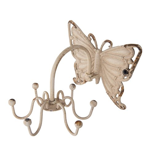 Shabby Chic Pewter Butterfly Wall Hook