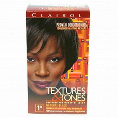 Clairol Textures professionnels et des tonalités permanent Couleur des cheveux, Natural Black