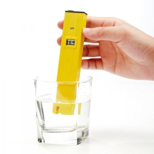 Digital PH Meter,PH Pen Tester, High Accuracy Pocket Size Water Quality Tester with ATC, LCD 0-14 pH Measurement Range for Household Drinking, Pool and - Chart Measurement Sunglasses