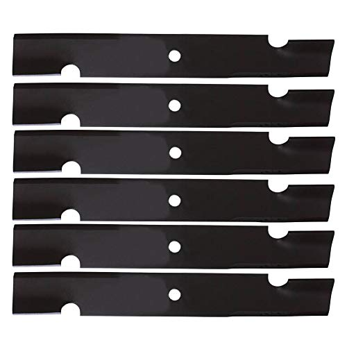 """(6) Replacement Notched Heavy Duty Lawn Mower Blades Exmark Bad Boy Snapper 52"""" Deck"""