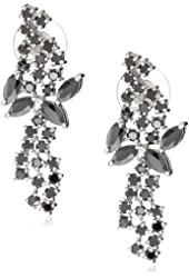 "CZ by Kenneth Jay Lane ""Trend Collection"" Cubic Zirconia Mini Mosaic Drop Earrings, 12 CTTW"