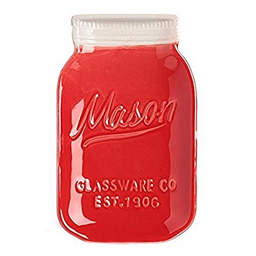 Red Ceramic Mason Jar Spoon Rest