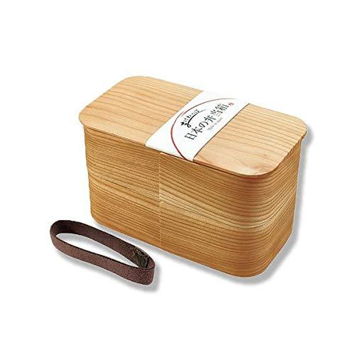 【ヤマコー】日本の弁当箱 長角 二段