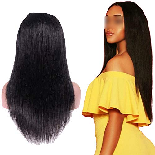 Carrie Lace Front Human Hair Wigs For Black Women Brazilian Straight Lace Front Wig Pre Plucked With Baby Hair Remy Lace Wig,12Inches,150%