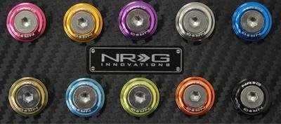 NRG Innovations FW-100BL Blue Fender Washer Kit, Set of 10,